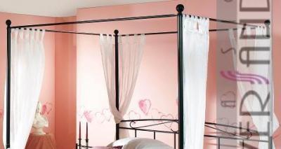 metallbett gestell himmelbett 100 x 200 cm bett ebay. Black Bedroom Furniture Sets. Home Design Ideas