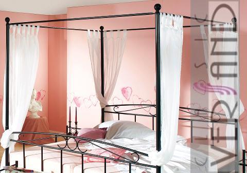 metallbett bett 180 x 200 himmelbett himmel rost matr ebay. Black Bedroom Furniture Sets. Home Design Ideas