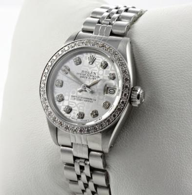 rolex lady datejust stahl weiss gold diamanten. Black Bedroom Furniture Sets. Home Design Ideas