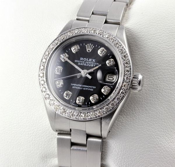 rolex lady datejust stahl weiss gold 46 diamanten vollbesatz damenuhr ebay. Black Bedroom Furniture Sets. Home Design Ideas