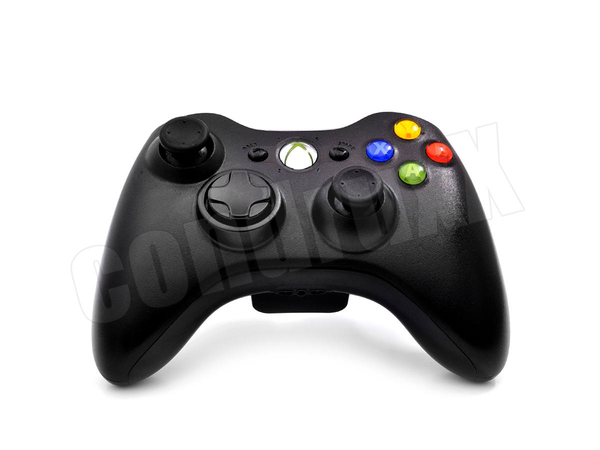 microsoft xbox 360 original wireless controller schwarz. Black Bedroom Furniture Sets. Home Design Ideas