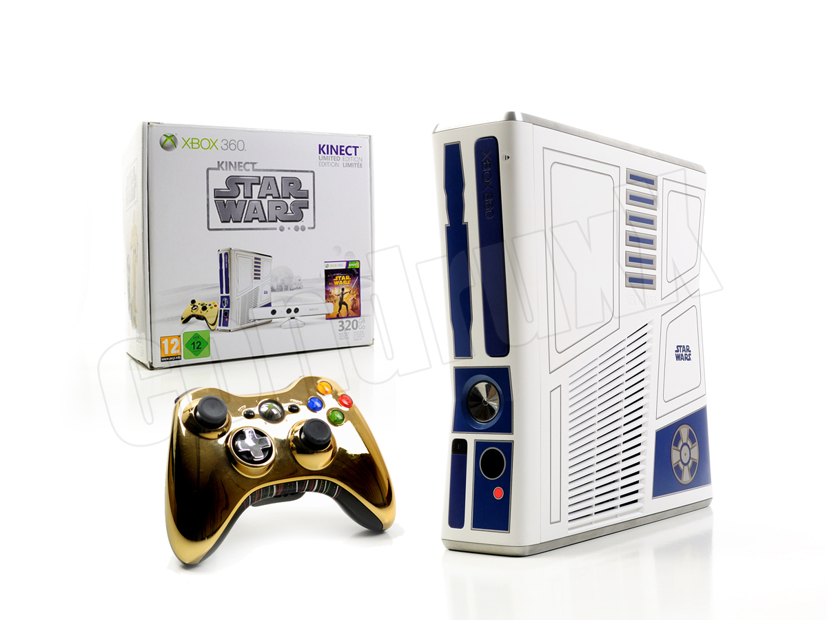 microsoft xbox 360 konsole slim kinect star wars. Black Bedroom Furniture Sets. Home Design Ideas