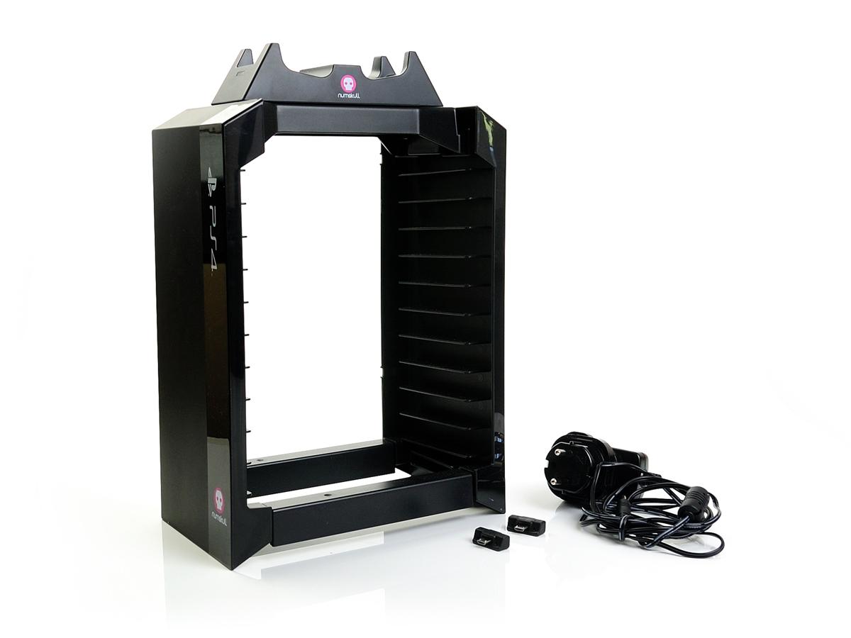 ps4 controller numskull games tower spiele halter ladeger t charger regal ebay. Black Bedroom Furniture Sets. Home Design Ideas