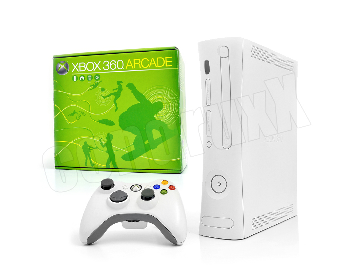 microsoft xbox 360 konsole weiss original controller. Black Bedroom Furniture Sets. Home Design Ideas