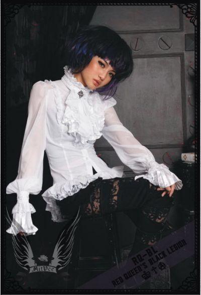 rqbl gothic lolita bluse royal weiss langarm hochzeit ebay. Black Bedroom Furniture Sets. Home Design Ideas
