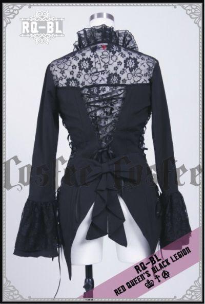 rq bl gothic jacke mantel schwarz mittellang damen ebay. Black Bedroom Furniture Sets. Home Design Ideas