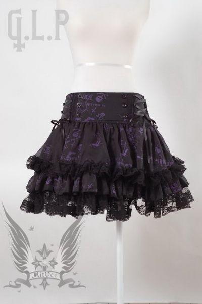 katze minirock gothic punk rock schwarz weiss 2 farben. Black Bedroom Furniture Sets. Home Design Ideas