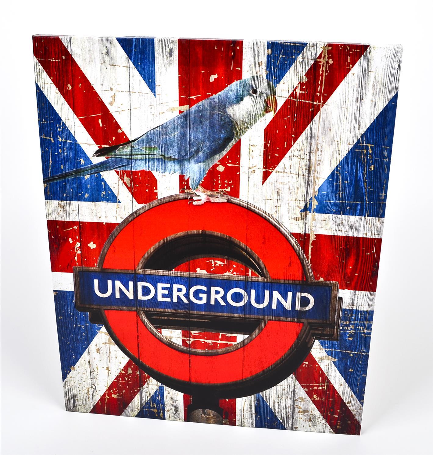 kunstdruck london underground design auf leinwand. Black Bedroom Furniture Sets. Home Design Ideas
