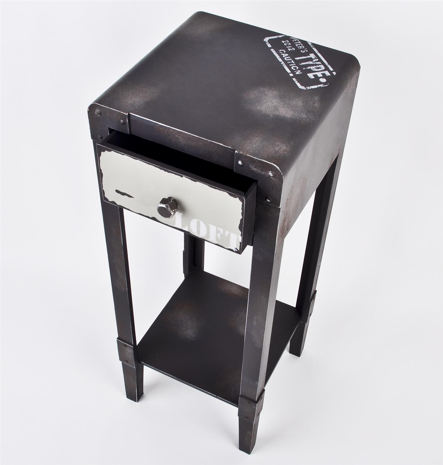 Beistelltisch industrial vintage design tisch blumentisch for Beistelltisch industrial