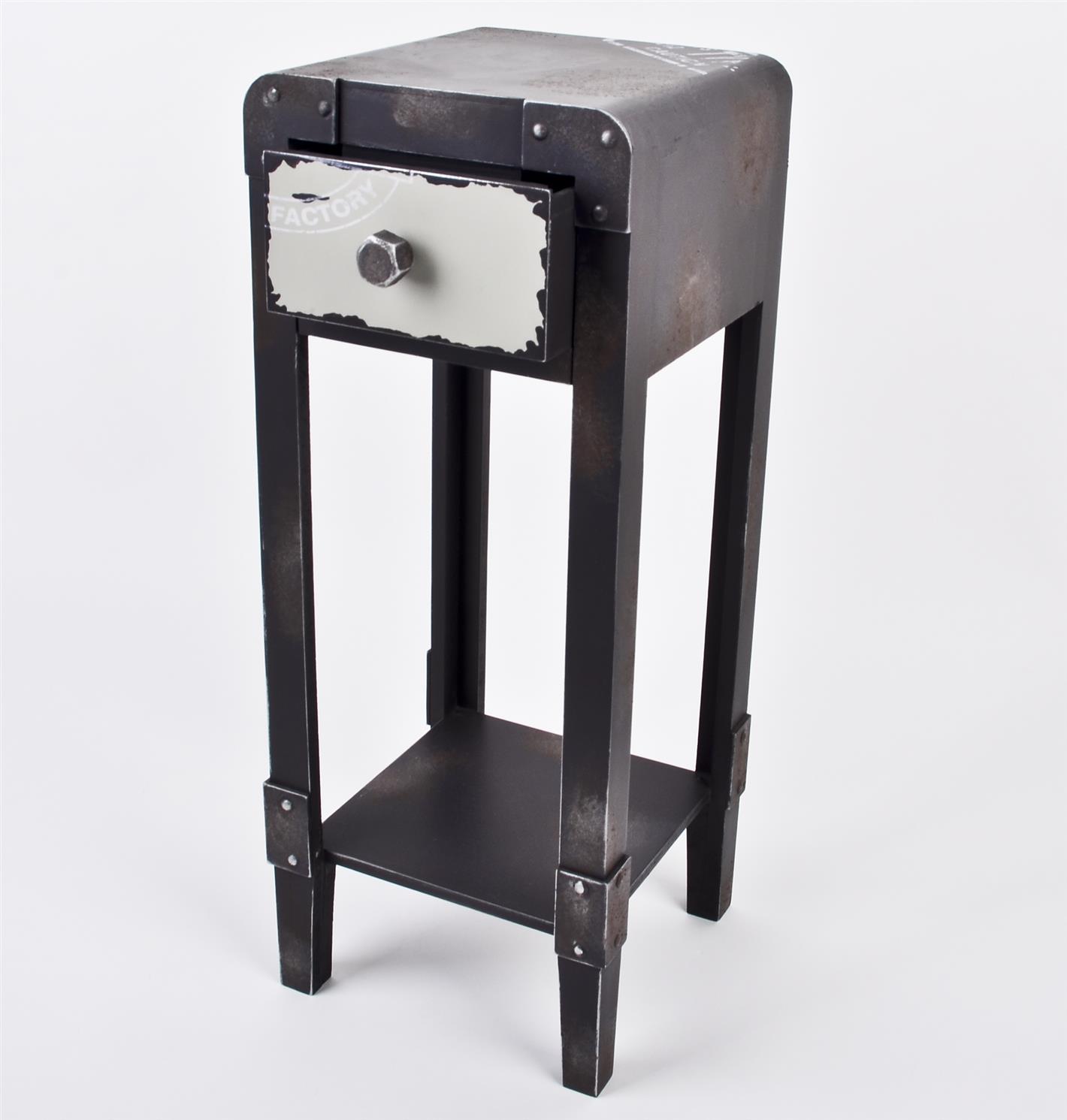 beistelltisch industrial style tisch container metall 1 schublade ebay. Black Bedroom Furniture Sets. Home Design Ideas