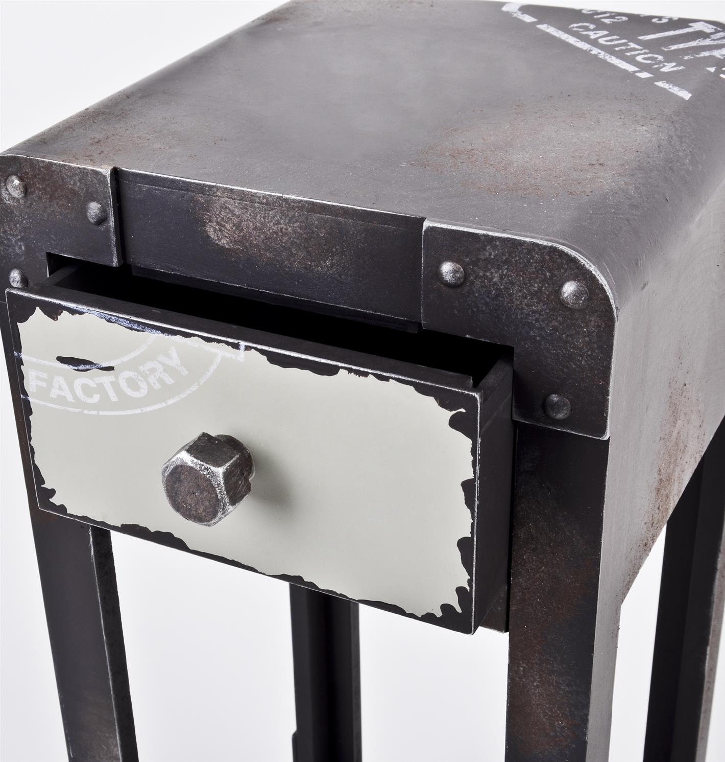 Beistelltisch industrial style tisch container metall 1 for Beistelltisch industrial