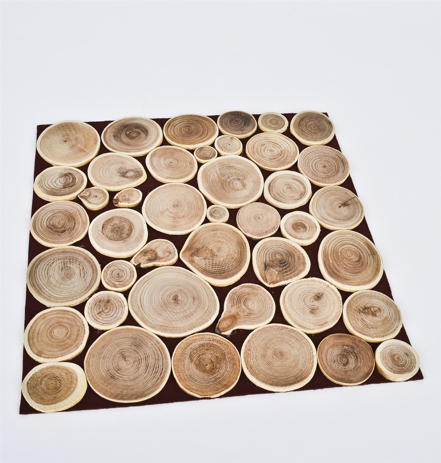 tisch set holzscheiben design platzset tischschutz tischdeko ebay. Black Bedroom Furniture Sets. Home Design Ideas