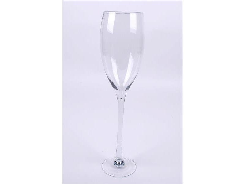 Sektglas xxl glas 60cm dekoglase glasvase blumenvase for Glasvase bepflanzen