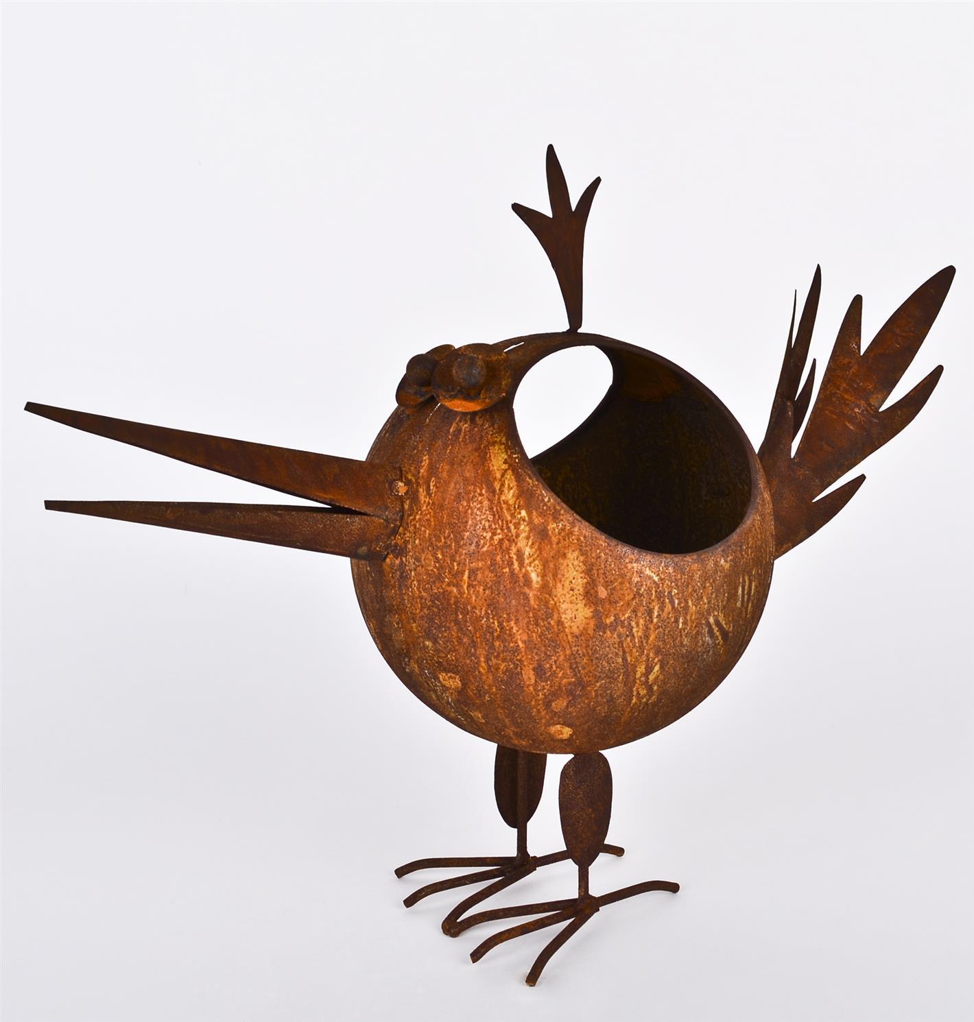 Dekofigur vogel willi tierfigur metall gartendeko for Gartendeko metall vogel