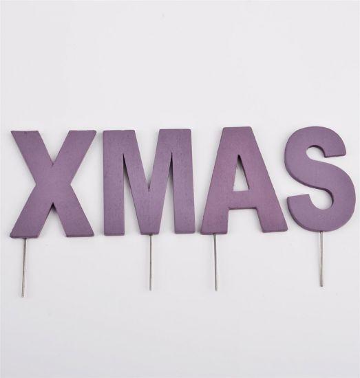 deko buchstaben stecker xmas holz 8 12cm lila weihnachten. Black Bedroom Furniture Sets. Home Design Ideas