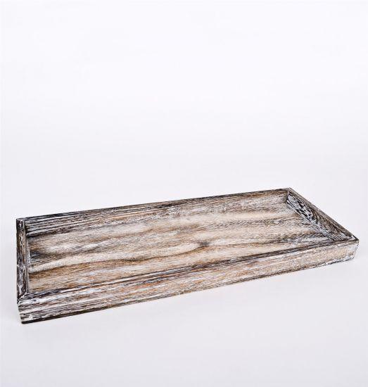 deko schale rechteckig braun 40cm holz dekoschale blumenschale holzschale ebay. Black Bedroom Furniture Sets. Home Design Ideas