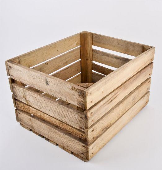 holzkiste vintage 40x50x30cm holz antik weinkiste obstkiste dekokiste box kiste ebay. Black Bedroom Furniture Sets. Home Design Ideas