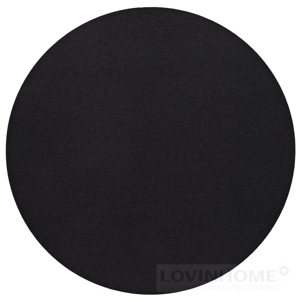 hey sign filz untersetzer 40 cm rund schwarz ebay. Black Bedroom Furniture Sets. Home Design Ideas