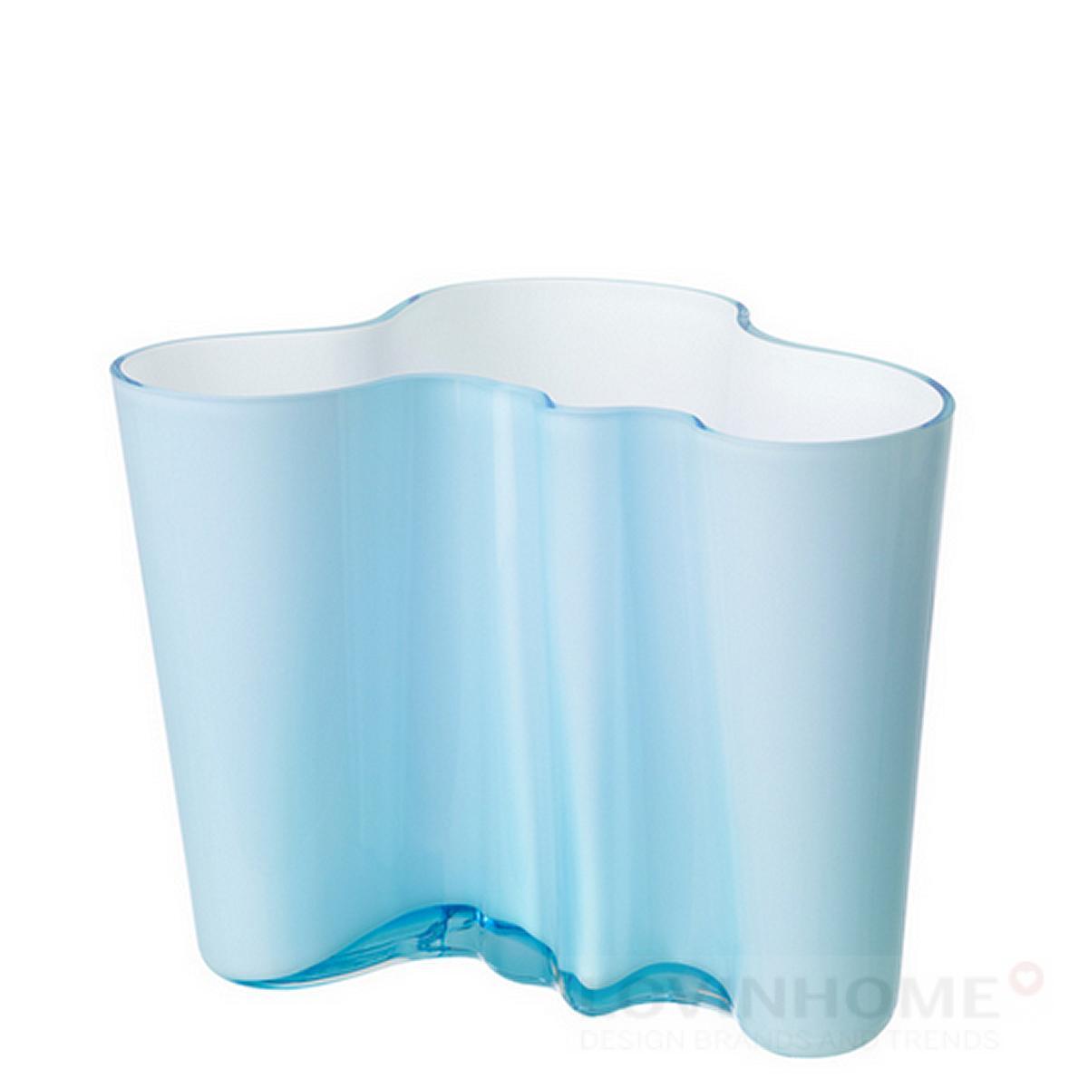 iittala alvar aalto savoy vase weiss t rkis 160 mm. Black Bedroom Furniture Sets. Home Design Ideas
