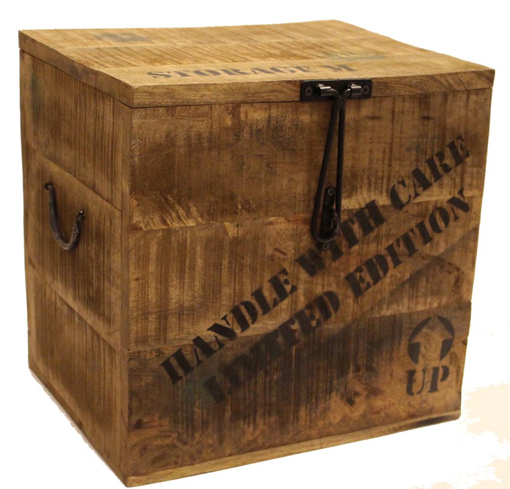 truhe paloma aus holz aufbewahrungsbox holzkiste ebay. Black Bedroom Furniture Sets. Home Design Ideas