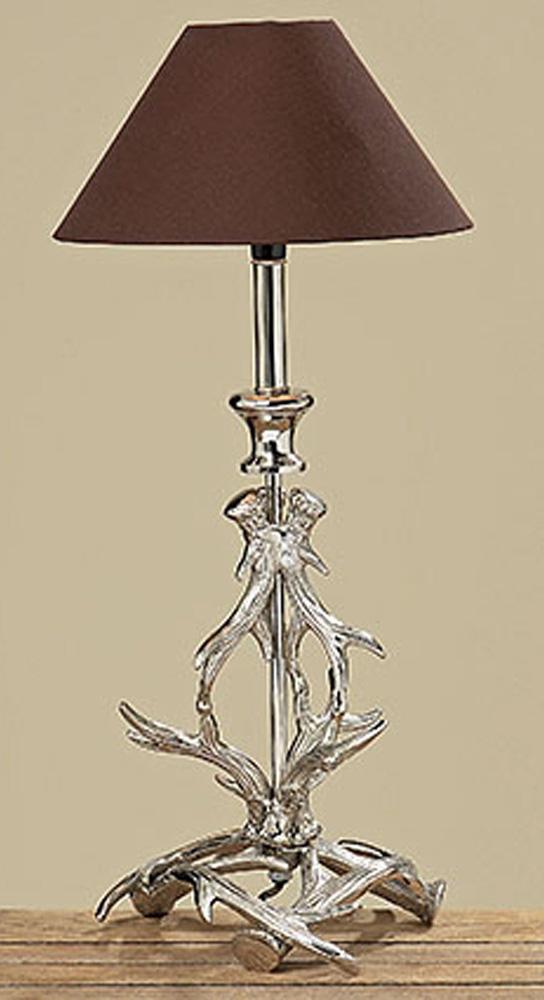 lampe geweih aluminium vernickelt silberfarben ebay. Black Bedroom Furniture Sets. Home Design Ideas