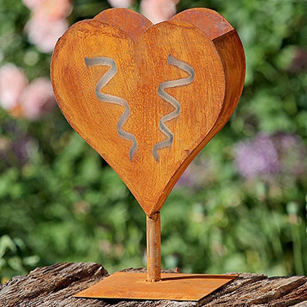 Pflanztopf herz eisen edelrost h40cm blumentopf ebay for Herz aus rost