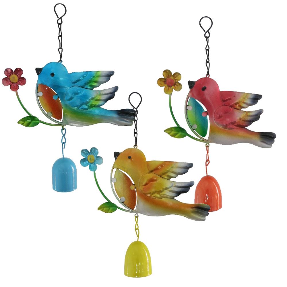 metall windspiel vogel mit glocke 23cm klangspiel dekoh nger deko ebay. Black Bedroom Furniture Sets. Home Design Ideas