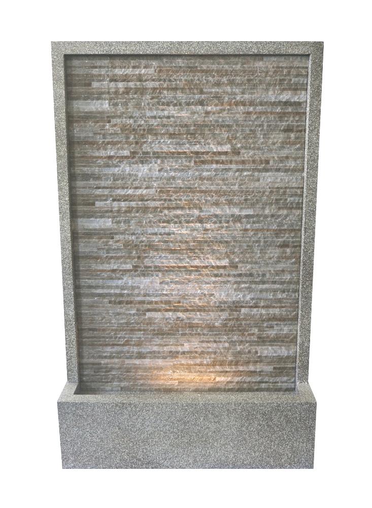Brunnen steinwand xxl wasserwand wassers ule dekobrunnen ebay - Wasserwand wohnzimmer ...