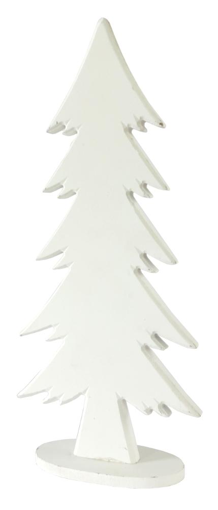 deko figur tannenbaum aus holz 35 5cm wei grau weihnachtsdeko ebay. Black Bedroom Furniture Sets. Home Design Ideas