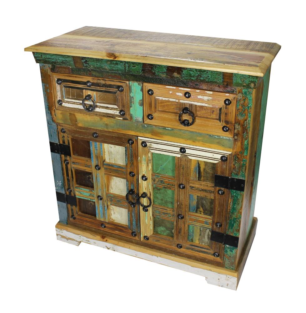 Sideboard 87 X40 X 90cm Kommode Vintage Anrichte Wohnzimmerschrank Retro
