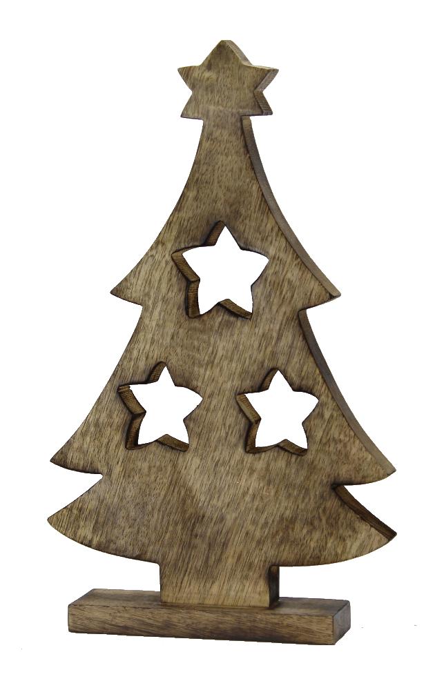 Deko Mit Sternen : holz deko figur baum mit sternen tannenbaum ~ Lizthompson.info Haus und Dekorationen