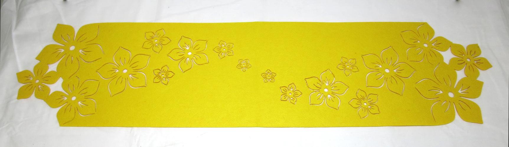 filz tischl ufer 24 x 100cm gelb tischdeko. Black Bedroom Furniture Sets. Home Design Ideas