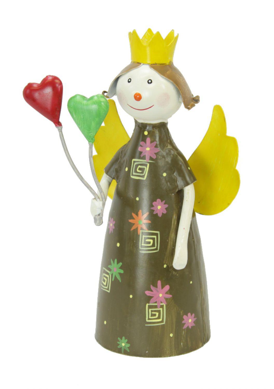 deko engel mit herz luftballons 26cm pfostenhocker zaunhocker gartendeko ebay. Black Bedroom Furniture Sets. Home Design Ideas