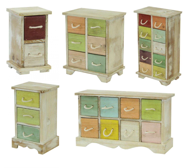 mini schrank aus holz mit seil griffen schmuckschrank minikommode aufbewahrung ebay. Black Bedroom Furniture Sets. Home Design Ideas