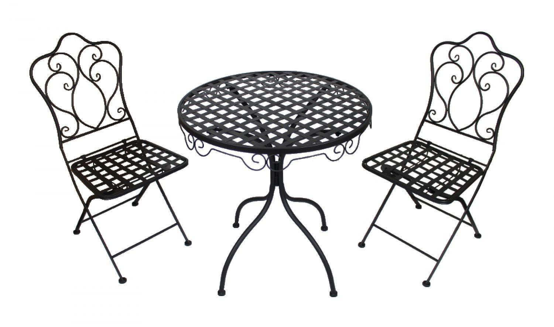 metall gartenm bel schwarz anthrazit metalltisch. Black Bedroom Furniture Sets. Home Design Ideas