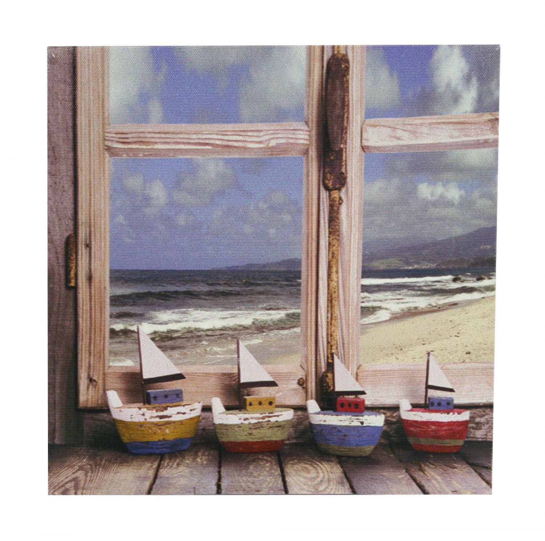 Leinwandbild auf Holzrahmen 25 x 25cm Motiv: Boote - Wandbild ...