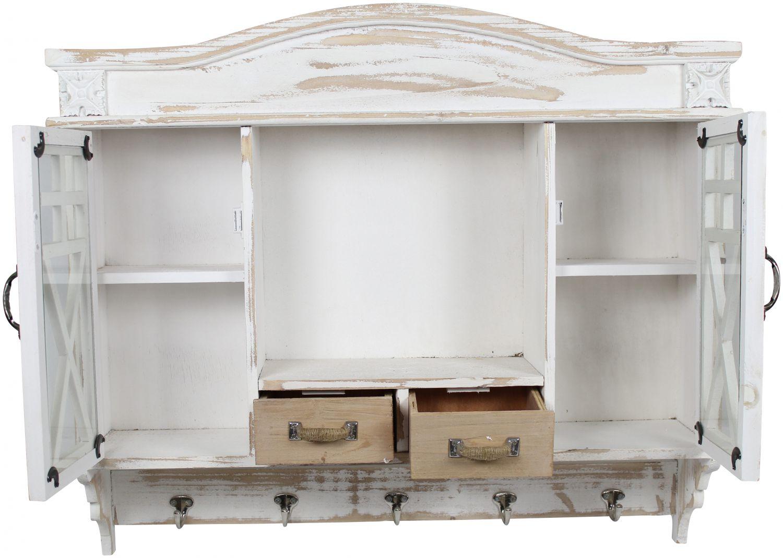 holz wandschrank garderobe h ngeschrank vintage shabby chic wandablage ebay. Black Bedroom Furniture Sets. Home Design Ideas