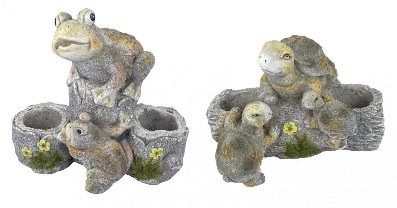 garten figuren mit pflanz t pfen schildkr te frosch zum bepflanzen gartendeko ebay. Black Bedroom Furniture Sets. Home Design Ideas