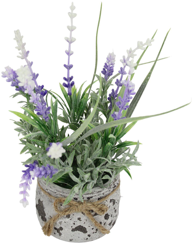kunstpflanze lavendel im topf 18cm kunstblume k nstlich. Black Bedroom Furniture Sets. Home Design Ideas