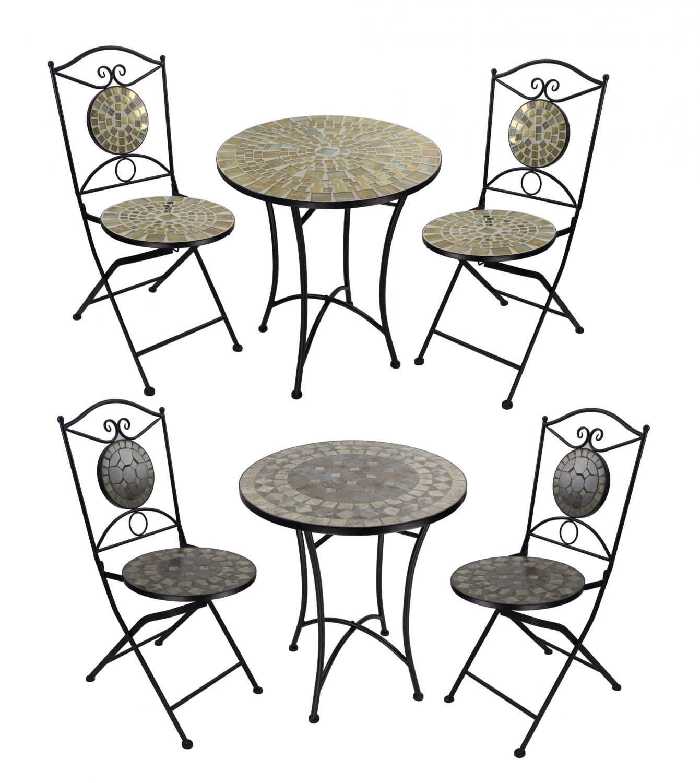 Mosaik Gartenmöbel - Gartentisch Gartenstuhl Bistrotisch Tischset ...