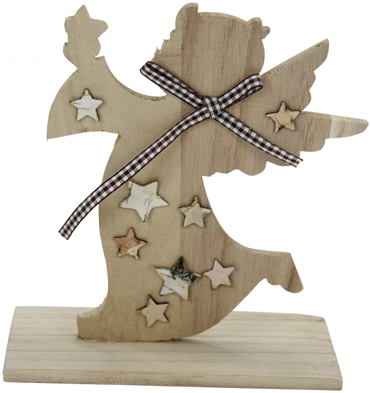 deko engel aus holz 3 st ck engeldeko weihnachtsdeko engelfigur dekofigur ebay. Black Bedroom Furniture Sets. Home Design Ideas