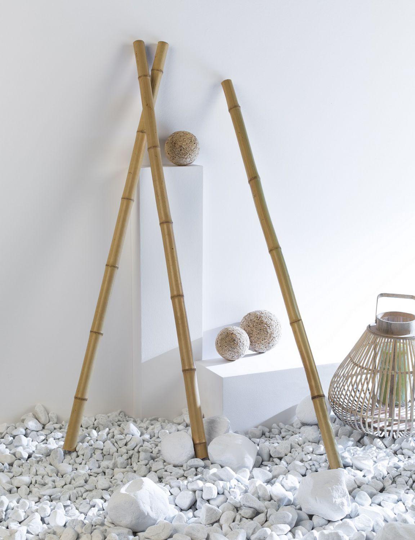 Dekosticks aus echtem bambus 3 er set nature bambusrohr dekoration deko a 100 cm ebay - Bambusrohre deko ...