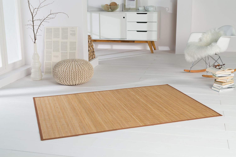 bambusteppich highq 160x230cm teppich bambus bambusmatte vorleger k chenteppich. Black Bedroom Furniture Sets. Home Design Ideas