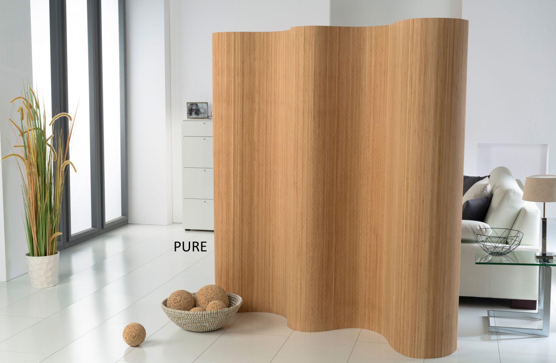 Doppelseitiger paravent a bambus pure raumteiler trennwand faltwand sichtschutz ebay - Trennwand bambus ...