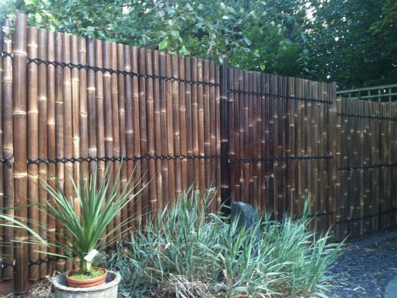 sichtschutz aus bambus xxl nigra 90x180 cm gartenzaun. Black Bedroom Furniture Sets. Home Design Ideas