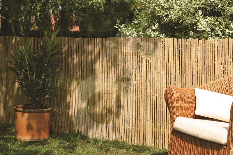 Bambus Sichtschutz CALAMA Gartenzaun Zaun Bambusmatte EXTRA GEHÄRTET  100x500 Cm