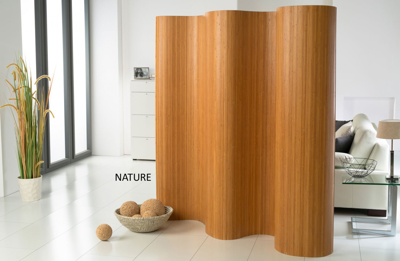 Doppelseitiger bambus paravent raumteiler trennwand - Faltwand raumteiler ...