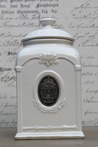 Vorratsdosen Keramik Landhaus kaffeedose eckig küche dose keramik antik shabby vorratsdose