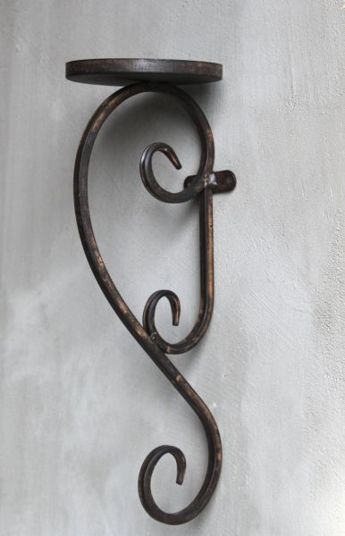 metall wand kerzenhalter shabby kerzenleuchter antik vintage landhaus ebay. Black Bedroom Furniture Sets. Home Design Ideas