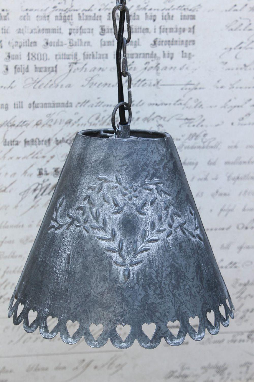 zink h ngelampe lampe h ngeleuchte shabby vintage metall landhaus chic antique ebay. Black Bedroom Furniture Sets. Home Design Ideas